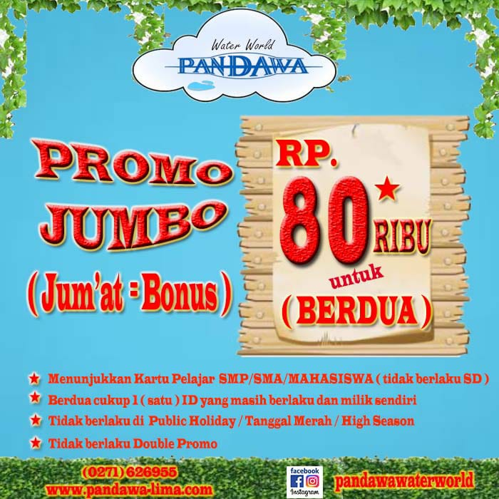 Promo Jumbo (Jum'at = Bonus)